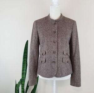 Eddie Bauer Wool Tweed Blazer Jacket